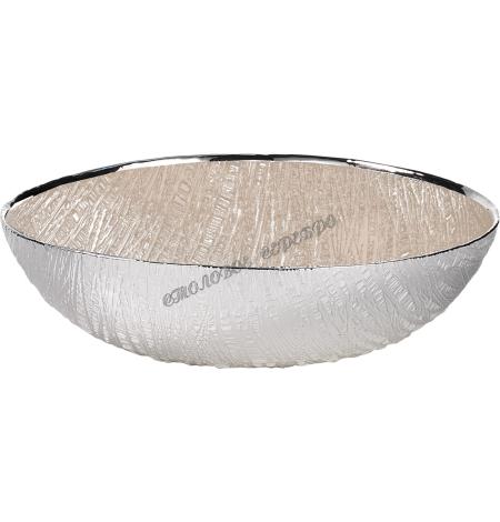 """Блюдо стеклянное """"INFINITY"""" (цвет песочный) d25см 1751591"""
