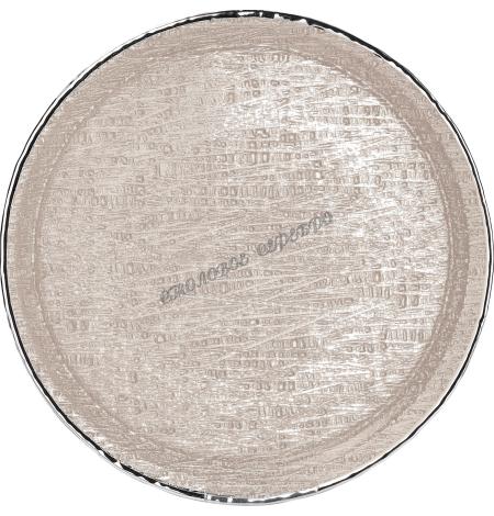 """Поднос стеклянный """"INFINITY"""" (цвет песочный) d35см 1751592"""