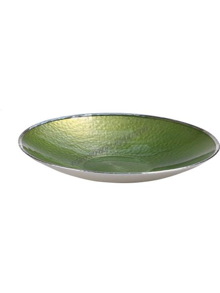 "Тарелка ""SINFONIA"" (цвет зеленый) d25см"