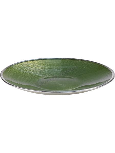 "Тарелка ""SINFONIA"" (цвет зеленый) d30см"
