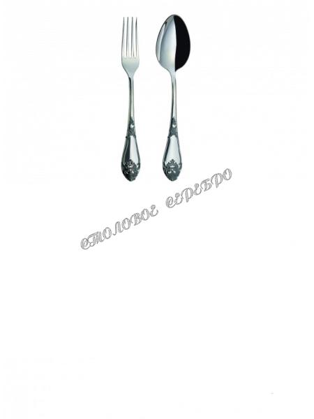 """Набор из 2 столовых серебряных приборов """"Дворцовый"""" М-17 с чернением"""