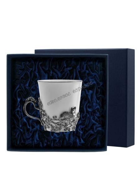 "Чайная чашка ""Куница"" серебро"
