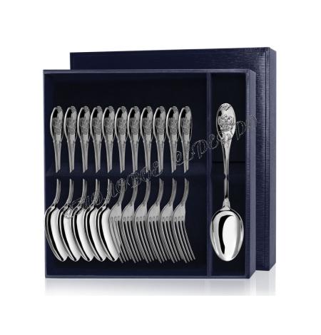 Серебряный столовый набор «Единство» 12 предметов (ложки и вилки)