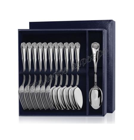Серебряный столовый набор «Визит» 12 предметов (ложки и вилки)