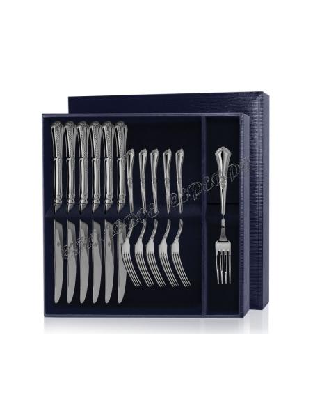 Серебряный десертный набор «Фаворит» 12 предметов (вилки и ножи)