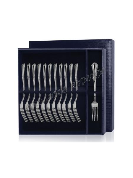 Серебряный десертный набор «Фаворит» 12 предметов (вилки)