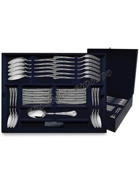 Серебряный десертный набор «Фаворит» 48 предметов