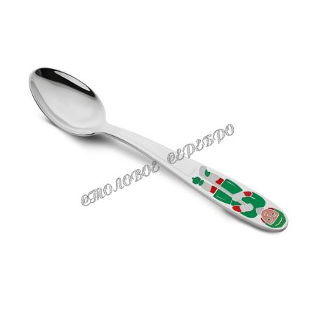 Детская серебряная ложка «Хоккеист» 42338