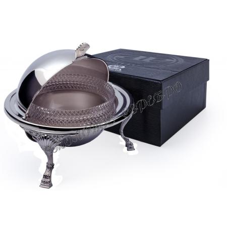 Икорница «Барокко» из серебра