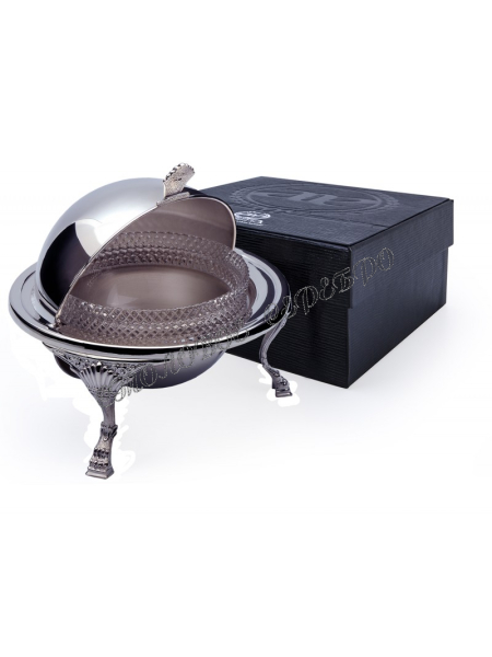 Серебряная икорница «Барокко»