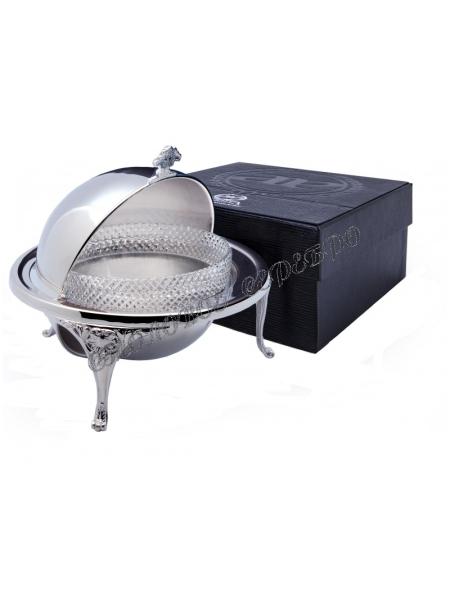 Серебряная икорница «Богема»