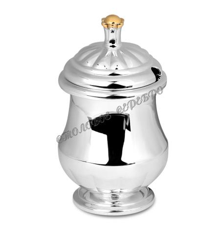 Серебряный сосуд для специй из набора «Государственный» с позолотой