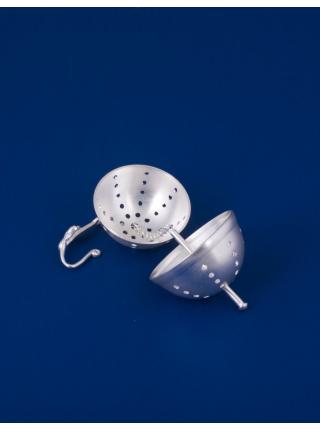 Серебряный шарик для заварки чая №1