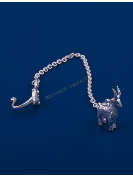 Серебряный освежитель для воды №43 коза