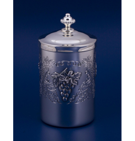 """Серебряная коробка для чая """"Виноградная лоза"""""""