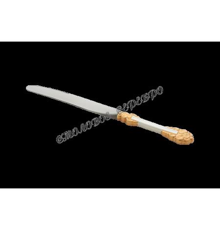 """Набор столовых ножей """"Праздничный"""" из мельхиора с позолотой на 6 предметов"""