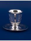 Серебряная чашка с блюдцем № 12