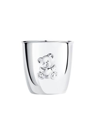 Детский столовый набор из серебра с стаканчиком «Мишутка»