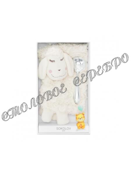"""Детский набор с погремушкой """"Солнышко"""" и мягкой игрушкой от SOKOLOV 24093"""
