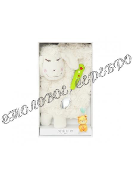 Детский набор с ложкой и мягкой игрушкой от SOKOLOV  24095