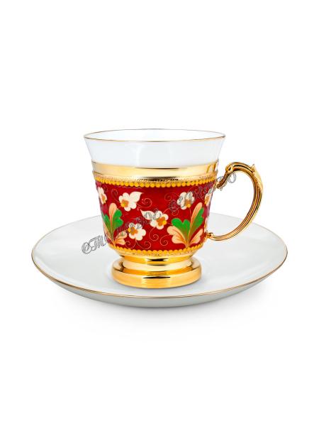 Серебряный чайный набор  арт. 33472