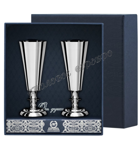 Набор рюмок №2, 2 предмета из серебра