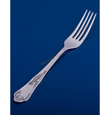 Серебряная столовая вилка №10