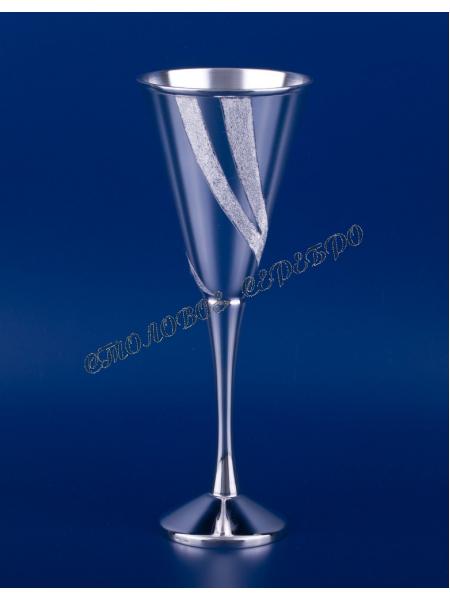 Серебряный бокал для шампанского №15
