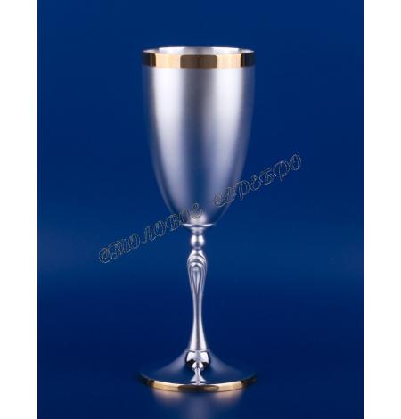 Серебряный бокал для шампанского №32