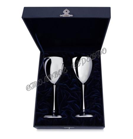 Набор бокалов для вина «Гладкие» из серебра