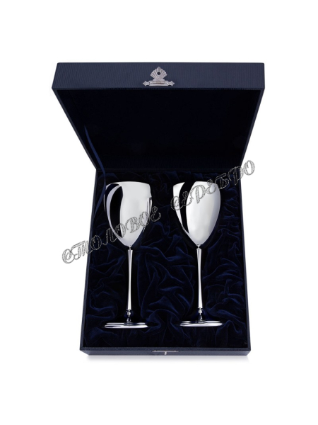 Набор серебряных бокалов для вина «Гладкие»
