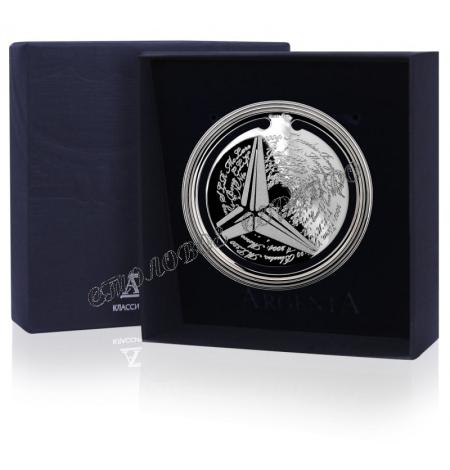 """Серебряная закладка для книг  """"Ретро Мерседес"""" 290ЗК22001"""