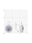 Комплект (серьги, кольцо и подвеска) из серебра с фианитами 10