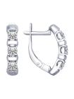 Комплект (серьги, кольцо) из серебра со Swarovski Zirconia 6