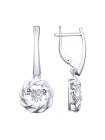 Комплект (серьги,  подвеска) из серебра со Swarovski Zirconia 1