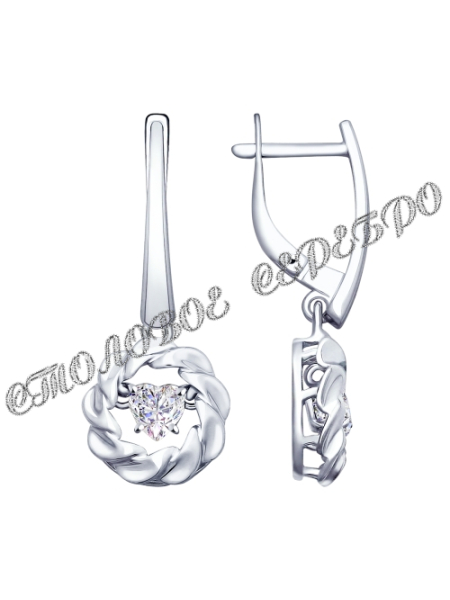 Серьги и подвеска из серебра со Swarovski Zirconia 1