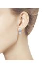 Комплект (серьги, кольцо и подвеска) из серебра со Swarovski Zirconia 2